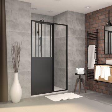Pack paroi porte de douche 140x200cm + receveur 140x90 cm