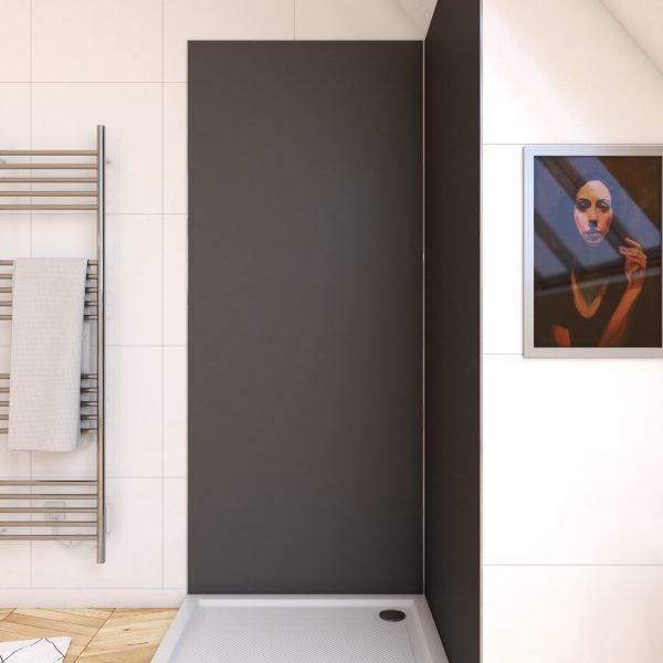 Panneau mural de douche GRIS en aluminium - 90 x 210 cm - WALL'IT GRIS 90