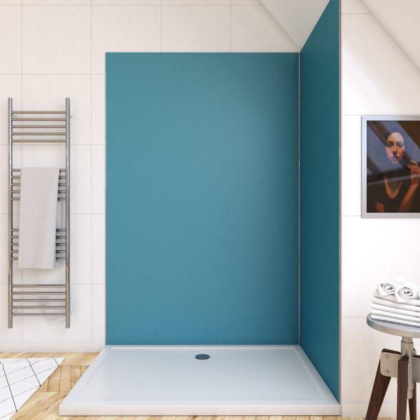 Panneau mural de douche BLEU en aluminium - 120 x 210 cm - WALL'IT BLEU 120