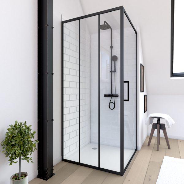Paroi retour pour porte de douche - 90x200 cm -   CRUSHX RETOUR 90CM