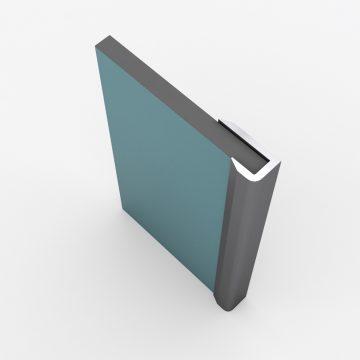 Profilés de finition chrome pour panneau mural - 2 profilés de 10x5x2100 mm – FINISH MURAL CHROME