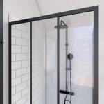 Paroi retour pour porte de douche - 80x200 cm - CRUSHX RETOUR 80CM