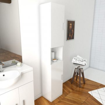 Colonne meuble de salle de bain blanc 35cm - THRIFTY 35