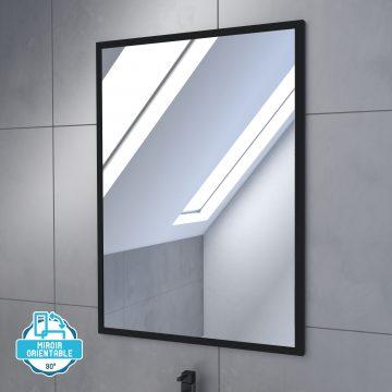 Meuble salle de bain 60 x 80cm - Finition chene naturel - vasque + miroir - TIMBER 60 - Pack01