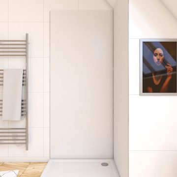 Panneau mural de douche BLANC en aluminium - 90 x 210 cm - WALL'IT BLANC 90