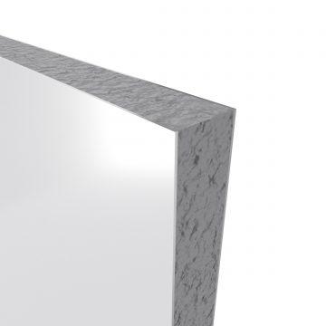 PACK PANNEAUX MURAUX BLANC en aluminium avec profile d'angle et de finition NOIR MAT - 90 x 90cm
