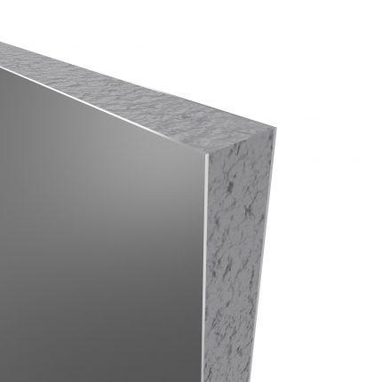 PACK PANNEAUX MURAUX GRIS en aluminium avec profile d'angle et finition ANODISE BRILLANT - 90 x 90cm