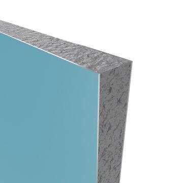 PACK PANNEAUX MURAUX BLEU en aluminium avec profile d'angle et finition ANODISE BRILLANT - 90 x 90cm