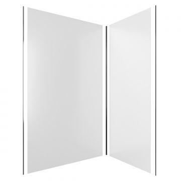 PACK PANNEAUX MURAUX BLANC MAT - en aluminium avec profile d'angle et de finition anodises CHROME