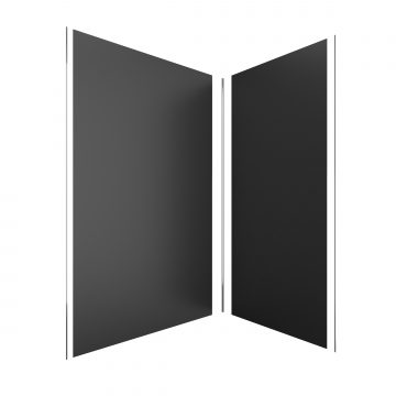 PACK PANNEAUX MURAUX NOIR en aluminium avec profile d'angle et finition ANODISE BRILLANT- 90 x 120cm