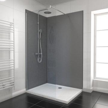PACK PANNEAUX MURAUX GRIS - en aluminium avec profile d'angle et de finition anodises noir mat
