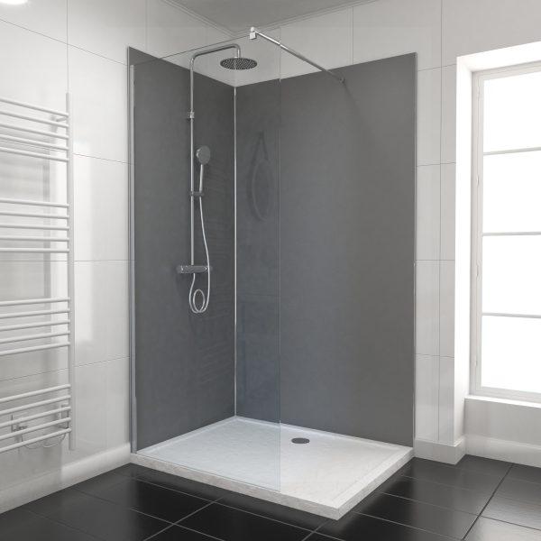 PACK PANNEAUX MURAUX GRIS en aluminium avec profile d'angle et finition ANODISE BRILLANT- 90 x 120cm